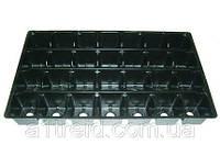 Кассеты для рассады не глубокие, 50 ячеек (47х50х24 мм), 540х280 мм (Украина)