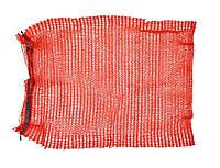 Сетка-мешок для упаковки лука с завязкой, красная, 40х60 см, до 20 кг