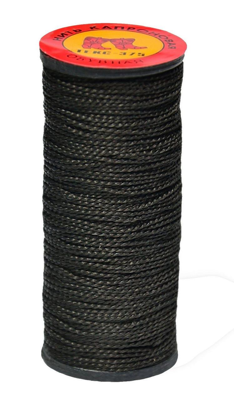Нить капроновая черная, 10 шт, 375 текс, (Украина)