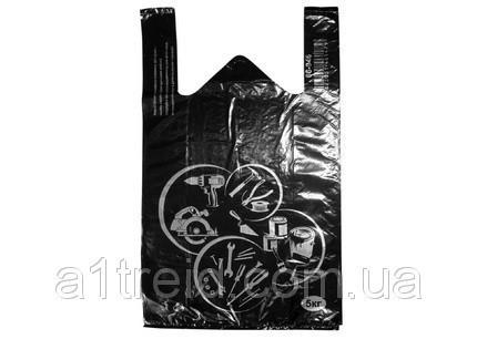 Пакет майка черный большой 45х70 см