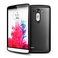Бампер для LG Optimus G3 - SGP Slim Armor, черный