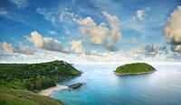 """Фотообои """"Зеленый остров"""", Фактурная текстура (холст, иней, декоративная штукатурка)"""