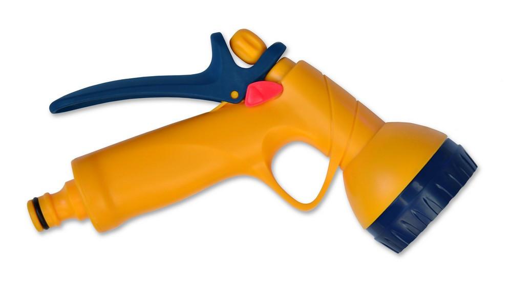 Пистолет-распылитель 6-позиционный пластиковый с фиксатором потока, Verano