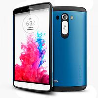 Бампер для LG Optimus G3 - SGP Slim Armor, синий