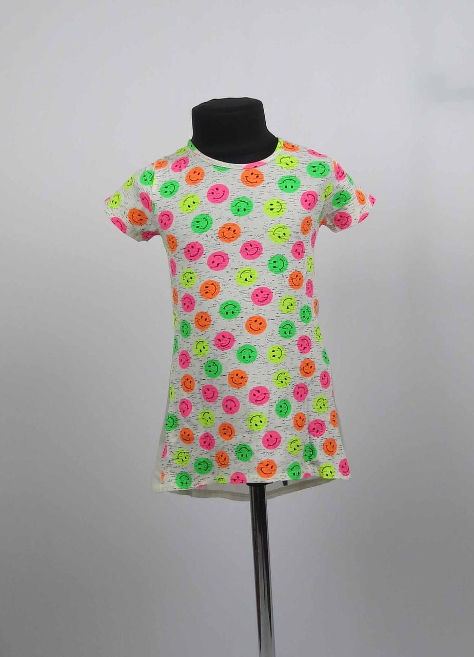 Платье туника от 3 до 7 лет смайл, фото 2