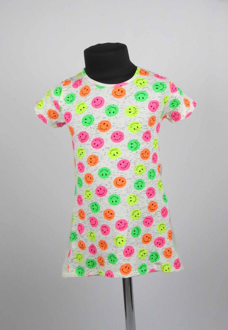 Платье туника от 3 до 7 лет смайл, фото 3