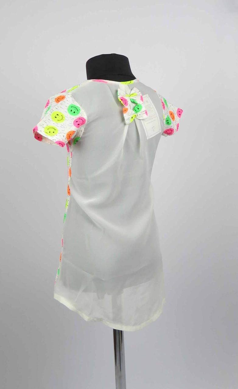 Платье туника от 3 до 7 лет смайл, фото 1