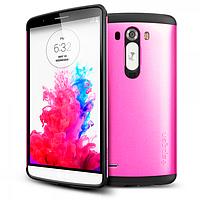 Бампер для LG Optimus G3 - SGP Slim Armor, розовый