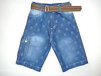 Капри джинсовые для мальчика  8-12 лет