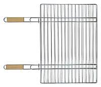 Решетка-гриль для мяса 40х57 см, с двумя ручками дерево, 67 см