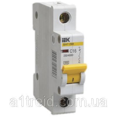 Автоматический выключатель ВА47-29М 1P  1,6A 4,5кА х-ка B ИЭК, фото 2