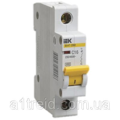 Автоматический выключатель ВА47-29М 1P  1,6A 4,5кА х-ка B ИЭК