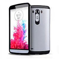 Бампер для LG Optimus G3 - SGP Slim Armor, серебристый
