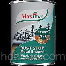 """Эмаль антикоррозийная по металлу 3 в 1 TM """"Maxima"""", молотковая (тёмно-коричневая) 0,75 л"""