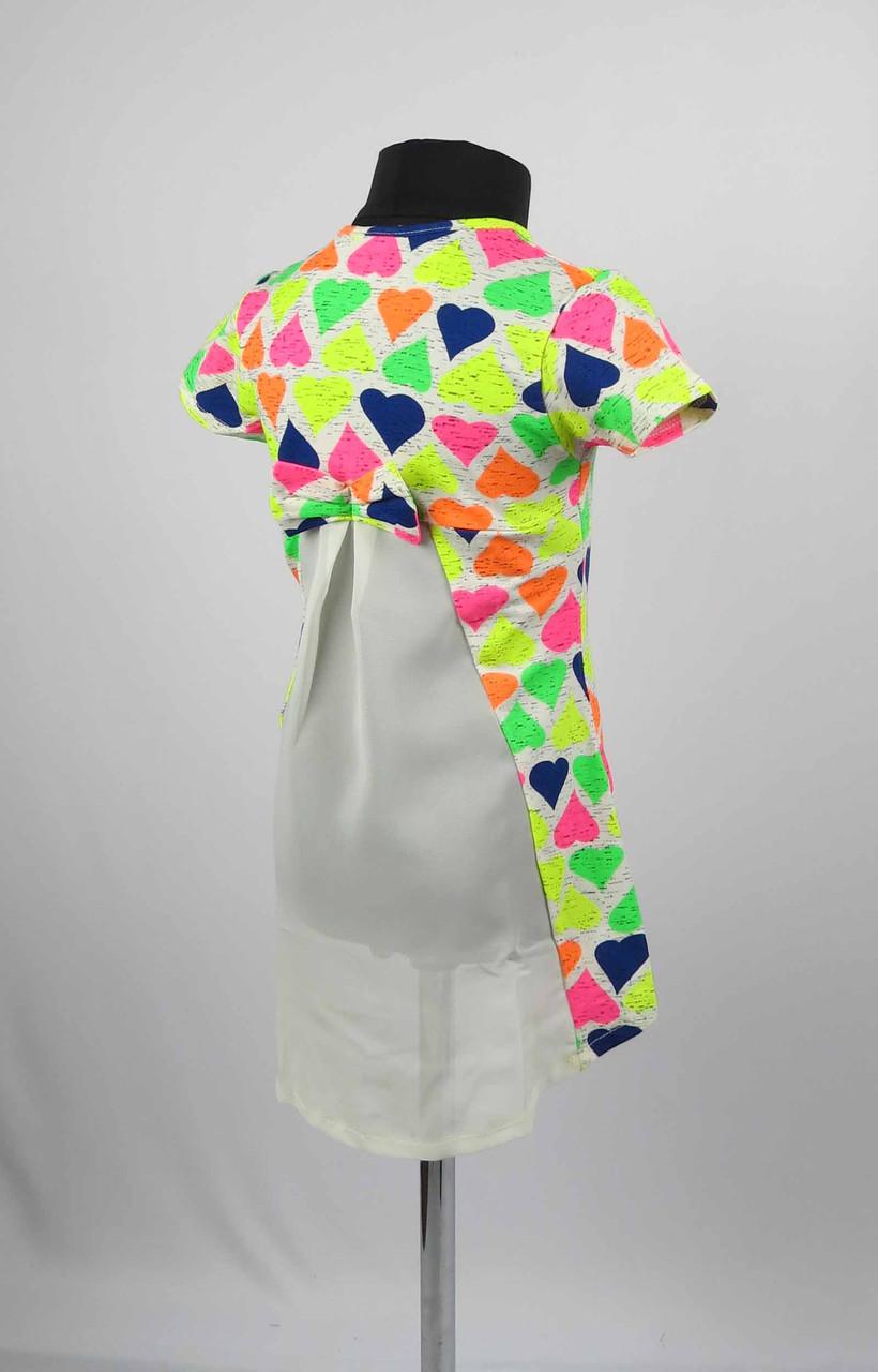 Платье туника от 3 до 7 лет сердце, фото 1
