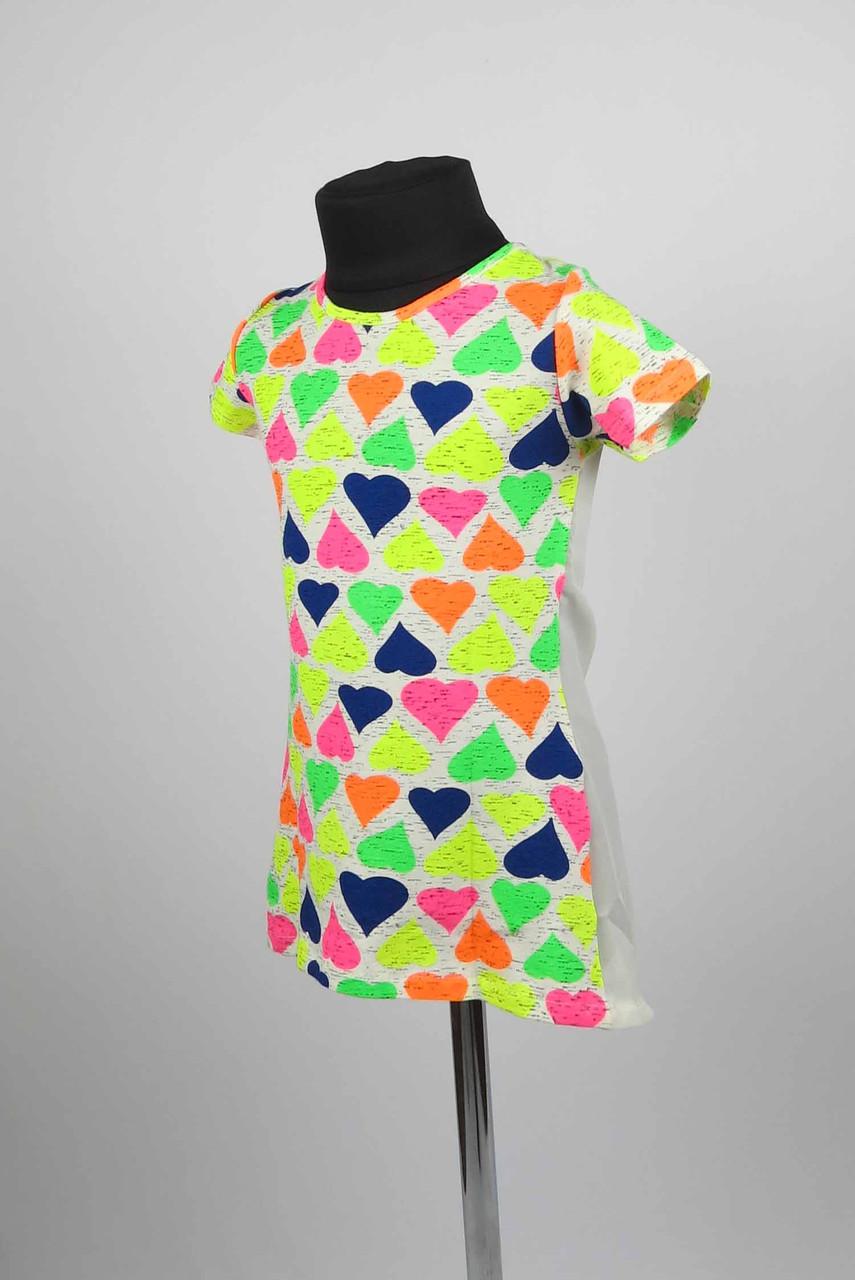 Платье туника от 3 до 7 лет сердце, фото 2