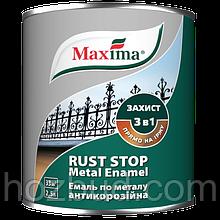 """Эмаль антикоррозийная по металлу 3 в 1 TM """"Maxima"""", молотковая (тёмно-коричневая) 2,5 л"""