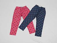 Штаны для девочки 2-5 лет с карманом, синие