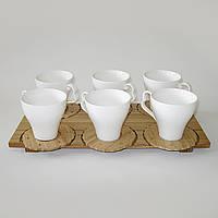 Чайный набор, чашки с подставками под горячее