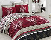 Постельное белье 200х220 Cotton box Royal Saten ASRA BORDO