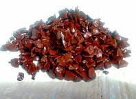Декоративный цветной щебень (крошка, гравий) , оранжевый (827205) Коричневый