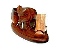 Оригинальный настольный набор со статуэткой слон