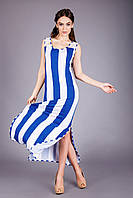 Яркий женский летний сарафан в модную полоску