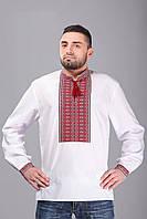 Мужская вышивка на рубашке, роскошный богатый узор, воротник-стойка и длинный рукав