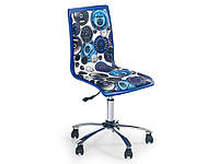 Компьютерное кресло FUN-8 бело-синий Halmar