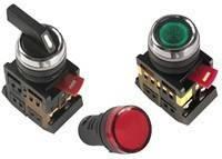 Лампа ENR-22 сигнальная d22мм красный неон/240В цилиндр ИЭК