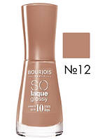 BJ So Laque Glossy - Лак для ногтей (12-молочный шоколад), 10 мл