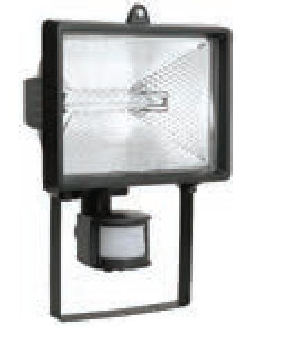 Прожектор ИО 500 Д (детектор) галогенный черный IP 54