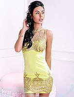 Утонченное платье с вышивкой S M L
