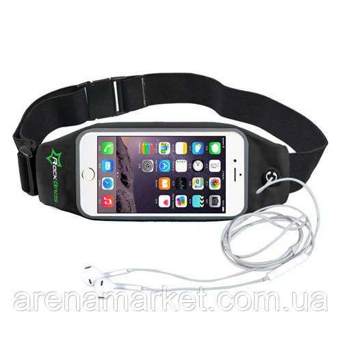 RockBros спортивний чохол - сумка на пояс для смартфона до 6.0 дюймом - чорний колір