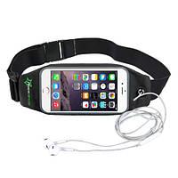 RockBros спортивний чохол - сумка на пояс для смартфона до 6.0 дюймом - чорний колір, фото 1