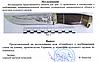 Нож охотничий Олень ( с рисунком ), фото 2