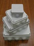 Коробка КМ41222 распаячная для о/п 100х100х44мм бел. (с конт.гр)