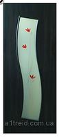 Двери межкомнатные со стеклом МДФ Волна 2 Омис