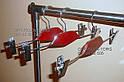 Вешалка-щип с  деревянной вставкой,с прищепками., фото 3