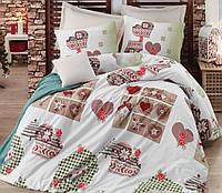 Постельное белье 200х220 Cotton Box ранфорс WINTER BEJ