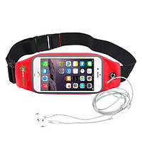 RockBros спортивный  чехол - сумка на пояс для смартфона до 6.0 дюймом - красный цвет