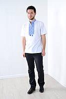 Классическая белая футболка -вышиванка
