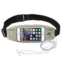 RockBros спортивный чехол - сумка на пояс для смартфона до 6.0 дюймом - серый цвет, фото 1