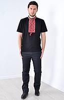 Модная вышитая футболка с надписью на спине, фото 1