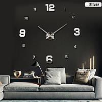 Настенные часы модерн наклейки зеркальные