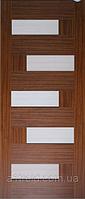Межкомнатные двери ПВХ Домино со стеклом сатин