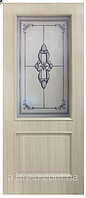 Межкомнатные двери ПВХ Версаль со стеклом и фотопечатью