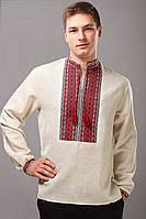 Мужская рубашка вышитая, длинный рукав