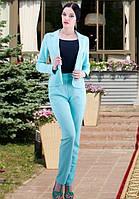 Костюм брюки с пиджаком мятного цвета