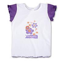 """Детская футболка """"Flowers"""" для девочки"""